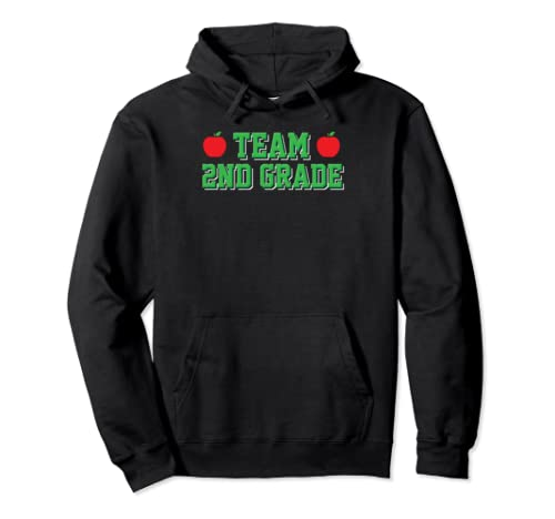 Team 2nd Grade 2 Back To School First Day Teacher Student Pullover Hoodie