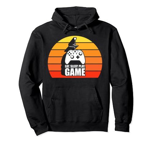 Eat Sleep Play Game Cool Gamer Gifts Geek Gaming Video Game Pullover Hoodie