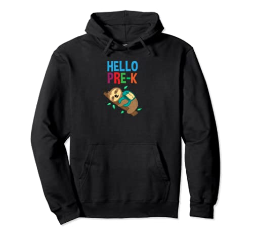 Hello Pre K Back To School Students And Teachers Pullover Hoodie
