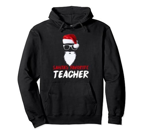 Funny Christmas Teacher Santa Favorite T Shirt Pullover Hoodie