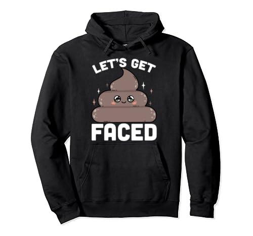 Let's Get Poop Faced Funny St Patrick's Day Poop Emoji Shirt Pullover Hoodie