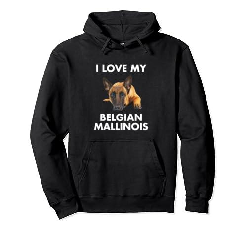 I Love My Belgian Mallinois Dog Pullover Hoodie