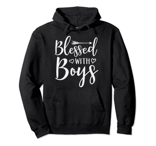 Blessed With Boys Proud Mom Mother's Day Gift Pullover Hoodie