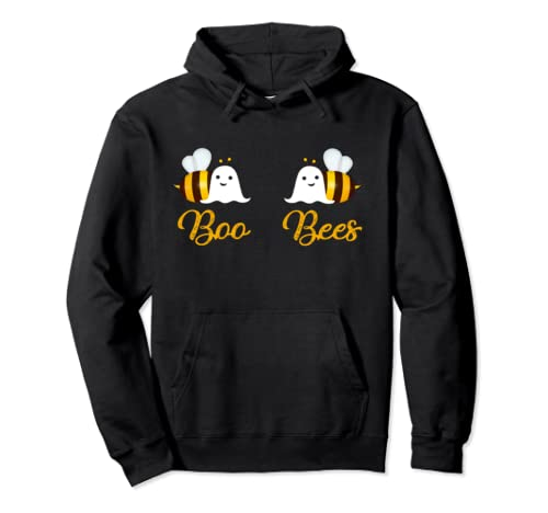 Halloween Costume Boo Bees Gifts Honey Bee Ghost Couples Pullover Hoodie