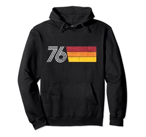 1976 Retro Distressed 70s Vintage Birthday Gift Pullover Hoodie