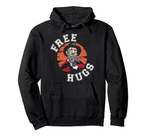 Free Hugs Freddy Halloween Gift Pullover Hoodie