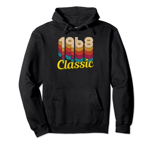 Retro Classic Vintage Born In 1968   51st Gift 51 Years Old Pullover Hoodie