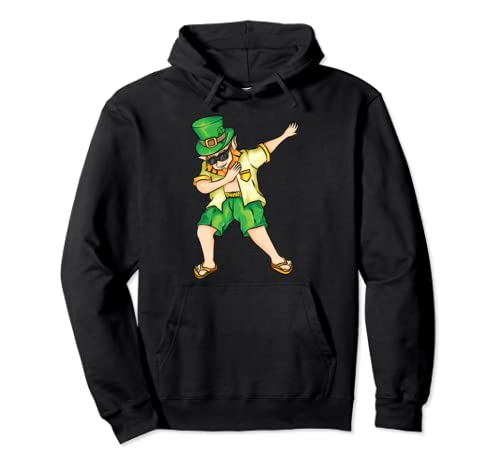 Dabbing Summer Leprechaun St. Patrick's Day Funny Gift Pullover Hoodie