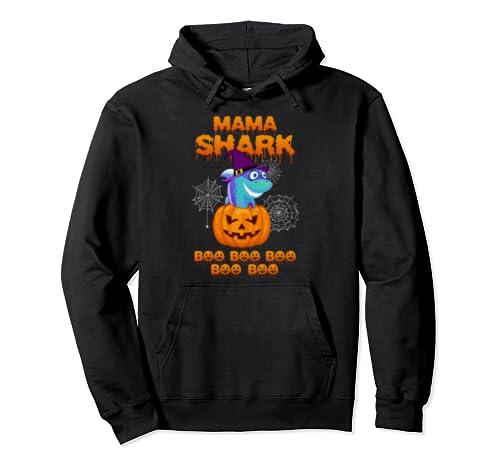Halloween Mama Shark Boo Boo Boo Boo Boo Funny Pullover Hoodie
