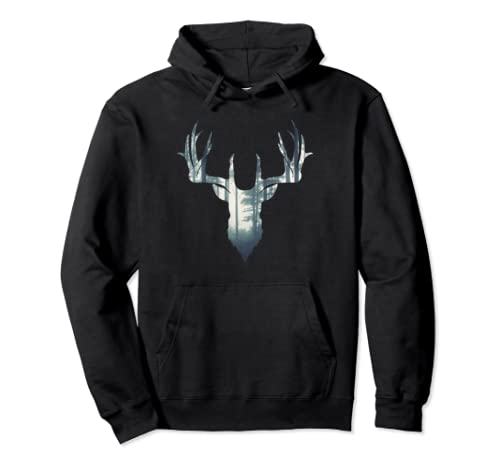 Hunter Deer Hunting | Forest Gift For Hunters Pullover Hoodie