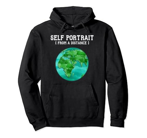 Funny Global Warming Environment Earth Selfie Lovers Pullover Hoodie