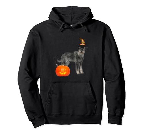 Standard Schnauzer Witch Hat Halloween Dog Costume Pullover Hoodie