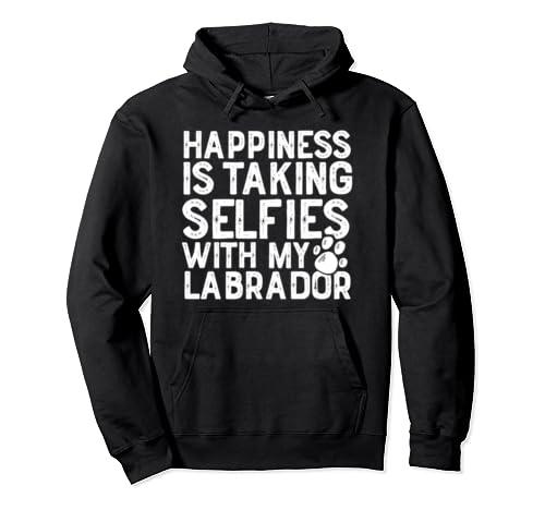 Labrador Funny Dog Selfie Cute Gift Women Men Pullover Hoodie