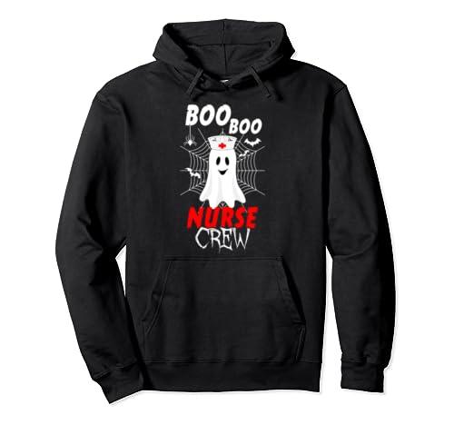 Boo Boo Nurse Crew | Nurses Halloween Ghost Costume Pullover Hoodie