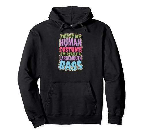 Largemouth Bass Fishing Design Human Costume Gift Pullover Hoodie