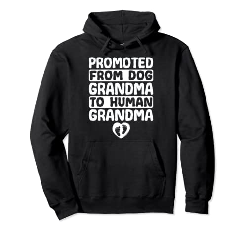 Promoted From Dog Grandma To Human Grandma Hoodie