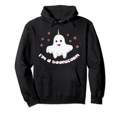 Unicorn Ghost Halloween I'm A Boonicorn Pullover Hoodie