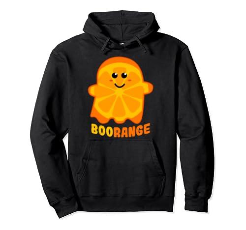 Boorange Orange Ghost Funny Boo Food Halloween Costume Pullover Hoodie