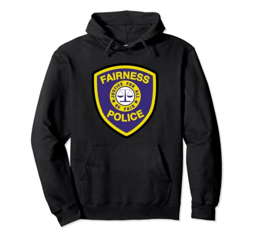 Fairness Police Badge Justice For All Graphic Halloween Pullover Hoodie