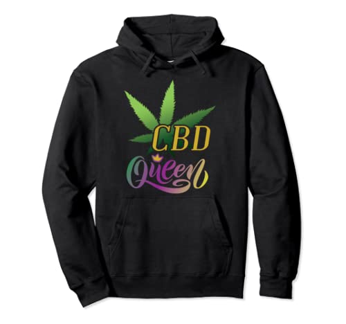 Yass Queen A Fun Cbd Oil Dealer Joke Gift Design Pullover Hoodie