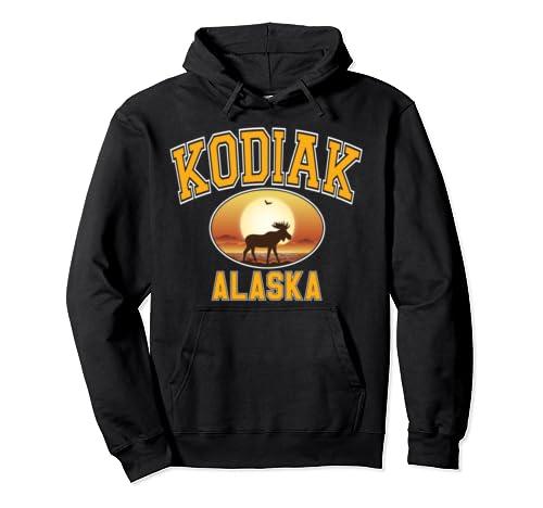 Kodiak Moose Sunset Pullover Hoodie
