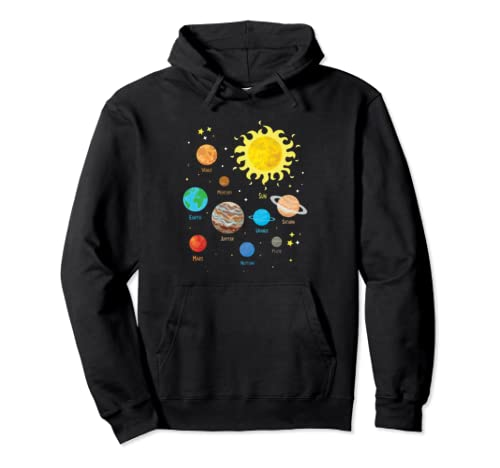 Solar System Dwarf Planets Astronomy Lover Astronaut Pullover Hoodie