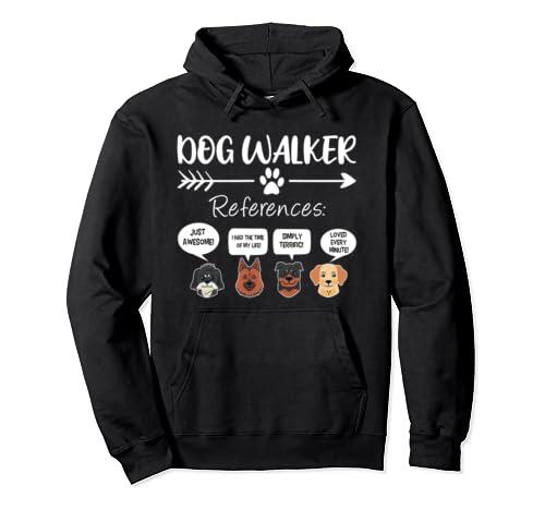 Dog Walker Shirt Dog Walking Gift Funny Dog Faces  Pullover Hoodie