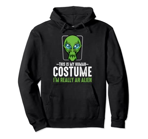 This Is My Human Costume I'm Really An Alien Pullover Hoodie