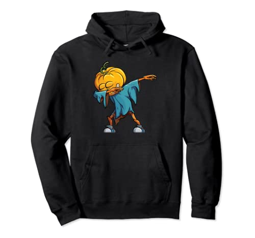 Halloween Dabbing Pumpkin Funny Dab For Men Women And Kids Pullover Hoodie