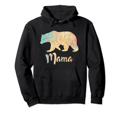 Mama Bear Mother's Day Floral Gift Pullover Hoodie