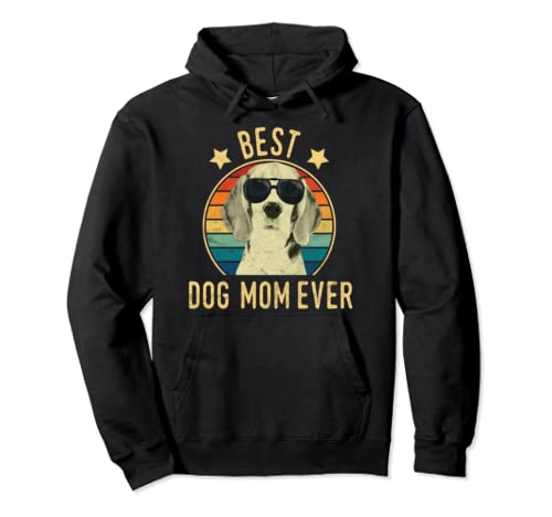 Best Dog Mom Ever Beagles Mother's Day Gift Pullover Hoodie