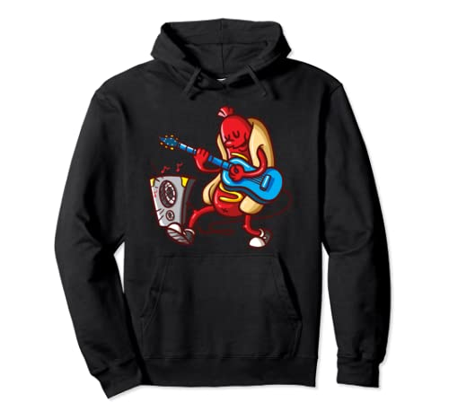 Hot Dog Guitarist American Food Lover Bbq Gift Costume Shirt Pullover Hoodie