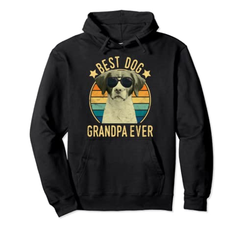 Best Dog Grandpa Ever Brittany Father's Day Pullover Hoodie