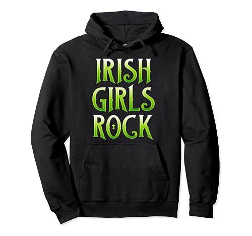 Irish Girls Rock Irish Pride St. Patrick's Day Gift Pullover Hoodie