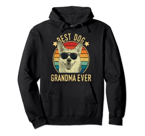 Best Dog Grandma Ever Pembroke Welsh Corgi Mother's Day Pullover Hoodie