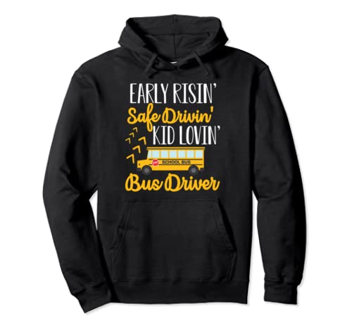 Cute Funny School Bus Driver Gift  Pullover Hoodie