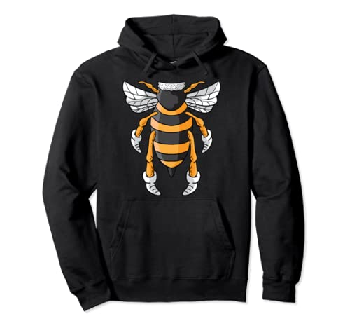 Honey Bee Funny Beekeeper Halloween Costume For Bees Lover Pullover Hoodie