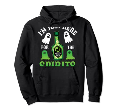 I'm Just Here For The Spirits Bar Pub Bartender Halloween  Pullover Hoodie