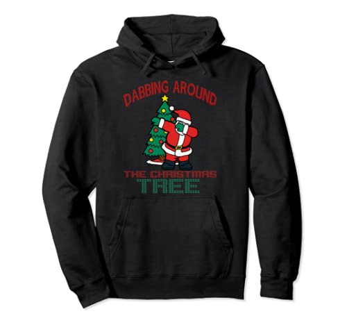 Dabbing Around The Christmas Tree Ugly Sweater Pullover Hoodie