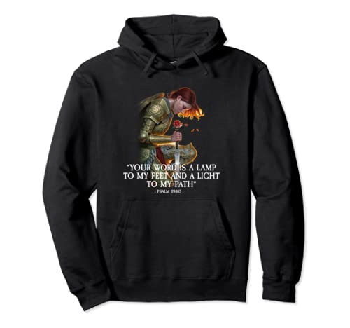 Your Word Is A Lamp To My Feet Psalm 119:105 Pullover Hoodie