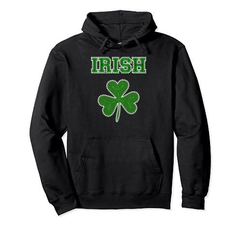 Irish Shamrock Plant Clover Saint Patrick's Day  Pullover Hoodie