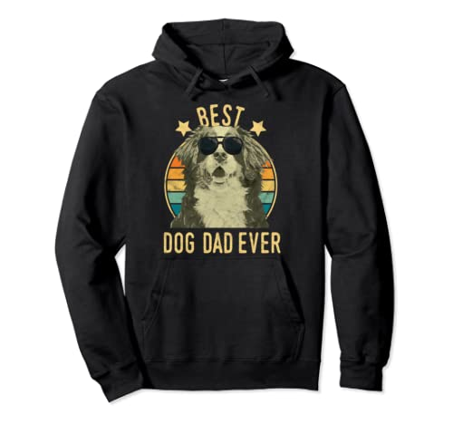 Best Dog Dad Ever Bernese Mountain Dog Father's Day Gift Pullover Hoodie