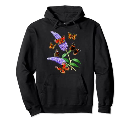 Monarch Butterfly Gifts Cute Entomology Botanical Wildflower Pullover Hoodie