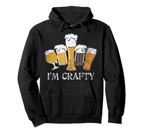 Craft Beer Drinkers Hoodie   I'm Crafty   Real Ale Fan