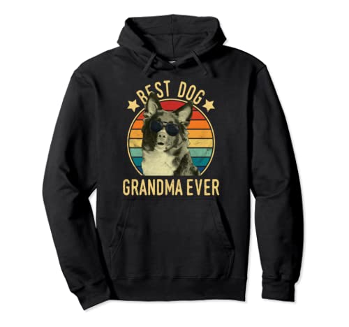 Best Dog Grandma Ever Miniature Shepherds Mother's Day Pullover Hoodie