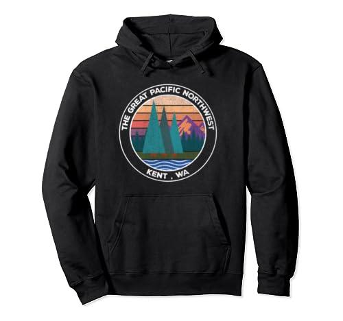 Retro Pnw Pacific Northwest Vintage Kent Wa Pullover Hoodie