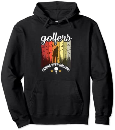 Artistic Golfers Retro Saying Pullover Hoodie