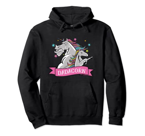 Dadacorn - Funny Father's Day Unicorn Dad Pullover Hoodie