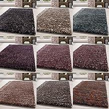 Shaggy vloerkleed hoogpolig langpolig tapijt woonkamer tapijt zacht eenkleurig gemêleerd, kleur:Antraciet, Groote:200x290 cm