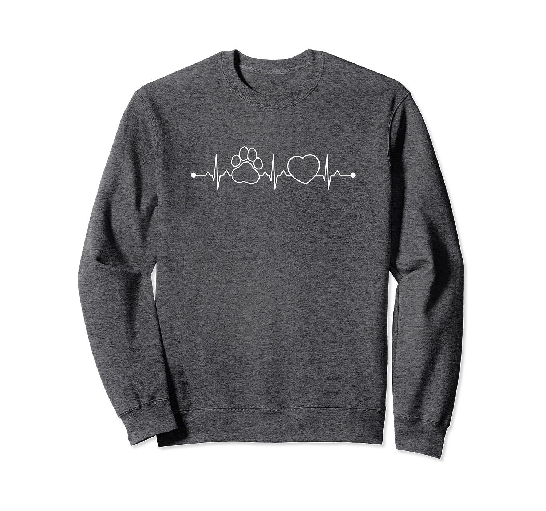 Paw Print Heartbeat for Dog Lovers Sweatshirt